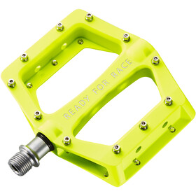 Cube RFR Flat Race Pedals, neon yellow